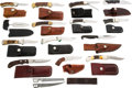 Edged Weapons:Knives, Lot of 14 Knives with Scabbards....