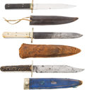 Edged Weapons:Knives, Lot of 3 Bowie Knives. ...