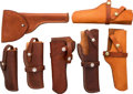 Arms Accessories:Holsters, Lot of Seven Assorted Leather Holsters....