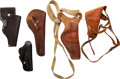 Arms Accessories:Holsters, Lot of Five Assorted Leather Holsters....