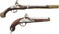 Handguns:Muzzle loading, Lot of Two Decorative Flintlock Pistols.... (Total: 2 )