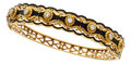 Estate Jewelry:Bracelets, Diamond, Enamel, Gold Bracelet. ...