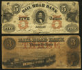 Obsoletes By State:Michigan, Adrian, MI-Erie and Kalamazoo Rail Road Bank $3 and $5 circa 1850s. ... (Total: 2 notes)