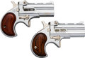 Handguns:Derringer, Palm, Lot of Two Davis Industries Over and Under Derringers.... (Total: 2Items)