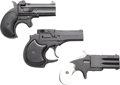 Handguns:Derringer, Palm, Lot of Three Over and Under Derringers.... (Total: 3 Items)