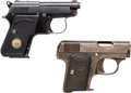 Handguns:Semiautomatic Pistol, Lot of Two Pocket Semi-Automatic Pistols.... (Total: 2 Items)