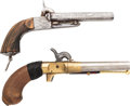 Handguns:Muzzle loading, Lot of Two Percussion Pistols.... (Total: 2 Items)
