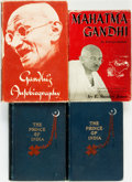 Books:Biography & Memoir, [India]. Pair of Biographies about Mahatma Gandhi [with:] ThePrince of India, Vols. I-II by Lew. Wallace, for goo... (Total:4 Items)