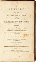 Books:Business & Economics, [Economics]. Adam Smith. An Inquiry into the Nature and Causesof the Wealth of Nations, Vol. II. Dublin: P. Wog...
