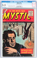 Golden Age (1938-1955):Horror, Mystic #43 (Atlas, 1956) CGC FN- 5.5 Cream to off-white pages....