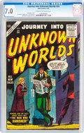 Golden Age (1938-1955):Horror, Journey Into Unknown Worlds #34 (Atlas, 1955) CGC FN/VF 7.0 Creamto off-white pages....