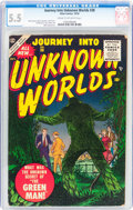 Golden Age (1938-1955):Horror, Journey Into Unknown Worlds #38 (Atlas, 1955) CGC FN- 5.5 Cream tooff-white pages....