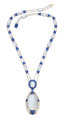 Montana Sapphire, Moonstone, Platinum Necklace, by Louis Comfort Tiffany, Tiffany & Co