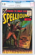 Golden Age (1938-1955):Horror, Spellbound #28 (Atlas, 1956) CGC FN/VF 7.0 Off-white to whitepages....