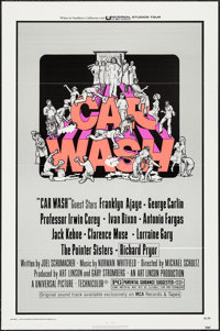 """Car Wash & Other Lot (Universal, 1976). One Sheets (2) (27"""" X 41"""") Flat Folded. Comedy. ... (Total: 2..."""