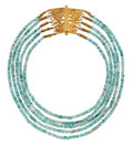 Estate Jewelry:Necklaces, Blue Zircon, Gold Necklace, Patricia Makena. ...