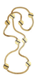 Estate Jewelry:Necklaces, Hematite, Gold Necklace, Bvlgari. ...