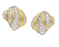 Estate Jewelry:Earrings, Diamond, Gold Earrings, Henry Dunay. ...
