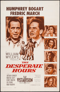 "The Desperate Hours (Paramount, 1955). One Sheet (27"" X 41""). Film Noir"
