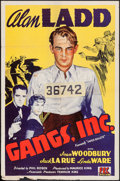 "Movie Posters:Crime, Paper Bullets (PRC, R-1943). One Sheet (27"" X 41""). Crime.Rerelease Title: Gangs, Inc.. ..."