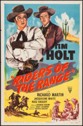 """Movie Posters:Action, Riders of the Range (RKO, 1950). One Sheet (27"""" X 41""""). Action....."""
