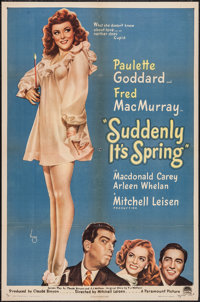 """Suddenly It's Spring (Paramount, 1946). One Sheet (27"""" X 41""""). Comedy"""