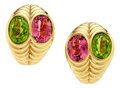 Estate Jewelry:Earrings, Tourmaline, Peridot, Gold Earrings, Bvlgari. ...