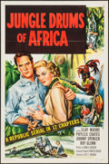 """Movie Posters:Serial, Jungle Drums of Africa (Republic, 1952). One Sheets (4) (27"""" X 41"""")Flat Folded. Serial.. ... (Total: 4 Items)"""