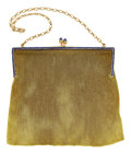 Estate Jewelry:Purses, Synthetic Sapphire, Gold Purse. ...