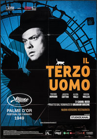 "The Third Man (Cineteca Bologna, R-2015). Italian 2 - Foglio (38.25"" X 55""). Film Noir"