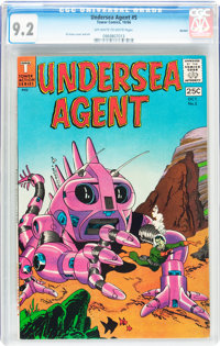 Undersea Agent #5 Boston pedigree (Tower, 1966) CGC NM- 9.2 Off-white to white pages