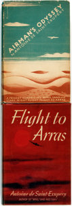 Books:World History, Antoine de Saint-Exupéry. Pair of Titles. Includes: Airman's Odyssey. [and:] Flight to Arras. New Yo... (Total: 2 Items)