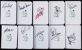 Golf Collectibles:Miscellaneous, Masters Champions Signed Augusta Scorecards Lot of 10....
