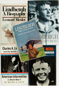 Books:Biography & Memoir, [Charles A. Lindbergh, subject]. Group of Five Biographies, One of Which is SIGNED. Various publishers and dates.... (Total: 5 Items)