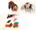 Animation Art:Concept Art, Lady and the Tramp Concept Art Group of 3 (Walt Disney,1955).... (Total: 3 Original Art)