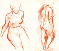Animation Art:Production Drawing, Retta Scott Original Anatomy Sketches Group of 2 (c. 1930s)...(Total: 2 Original Art)