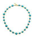 Estate Jewelry:Necklaces, Turquoise, Gold Necklace, Tiffany & Co.. ...