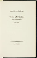 Books:Fiction, Anne Morrow Lindbergh. LIMITED. The Unicorn and Other Poems 1935-1955. Pantheon, [1956]. ...