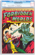 Golden Age (1938-1955):Science Fiction, Forbidden Worlds #1 (ACG, 1951) CGC VF- 7.5 Off-white to whitepages....