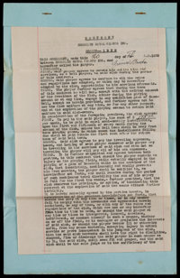 1929 Irvin Brooks Signed Negro League Player's Contract