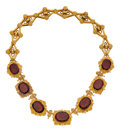 Estate Jewelry:Necklaces, Antique Garnet, Gold Necklace. ...