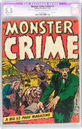 Golden Age (1938-1955):Horror, Monster Crime #1 (Hillman Publications, 1952) CGC Apparent FN- 5.5Slight (B-1) Cream to off-white pages....