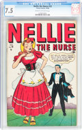 Golden Age (1938-1955):Romance, Nellie the Nurse #15 (Timely/Marvel, 1948) CGC VF- 7.5 Cream tooff-white pages....