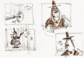 Animation Art:Production Drawing, The Nightmare Before Christmas Mayor of Halloween Town Storyboard Animation Drawing (Buena Vista/Disney, 1993)....