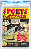 Golden Age (1938-1955):Miscellaneous, Sports Action #4 (Atlas, 1950) CGC VF 8.0 White pages....