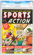 Golden Age (1938-1955):Non-Fiction, Sports Action #6 (Atlas, 1951) CGC VF/NM 9.0 Off-white to whitepages....