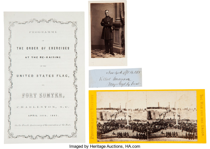 Fort Sumter Flag Raising and Major Robert Anderson Group