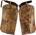 Western Expansion:Cowboy, Batwing Chaps from Miles City Saddlery Company....