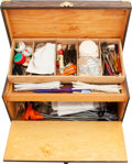 Arms Accessories:Tools, Wooden Case with Assorted Cleaning Tools....