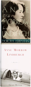 Books:Biography & Memoir, Anne Morrow Lindbergh, subject. Pair of Biographies. Variouspublishers and dates.... (Total: 2 Items)